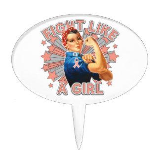 Endometrial Cancer Vintage Rosie Fight Like A Girl Cake Picks