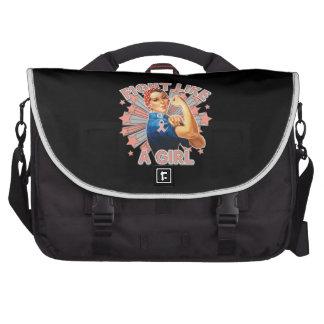 Endometrial Cancer Vintage Rosie Fight Like A Girl Laptop Commuter Bag