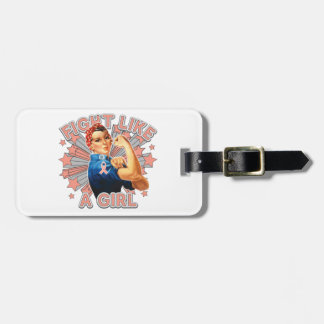 Endometrial Cancer Vintage Rosie Fight Like A Girl Tags For Luggage