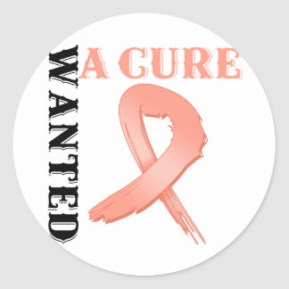 Endometrial Cancer WANTED A CURE Stickers
