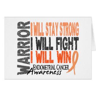 Endometrial Cancer Warrior Greeting Card