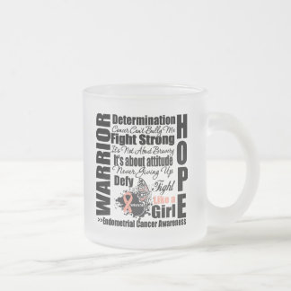 Endometrial Cancer Warrior Fight Slogans Mug