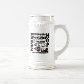 Endometrial Cancer Warrior Fight Slogans Coffee Mug