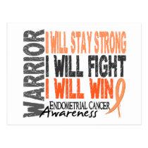 Endometrial Cancer Warrior Postcard