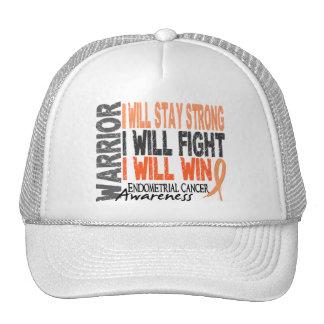 Endometrial Cancer Warrior Trucker Hats