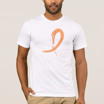 Endometrial Cancer's Peach Ribbon A4 T-Shirt