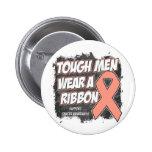 Endometrial/Uterine Cancer Tough Men Wear A Ribbon Pin