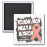 Endometrial/Uterine Cancer Tough Men Wear A Ribbon Magnets