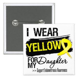Endometriosis amarilla de la cinta de la hija pin cuadrado