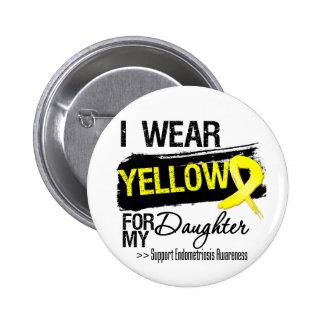 Endometriosis amarilla de la cinta de la hija pin redondo de 2 pulgadas