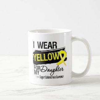 Endometriosis amarilla de la cinta de la hija taza