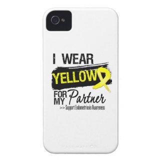 Endometriosis amarilla de la cinta del socio iPhone 4 cárcasa