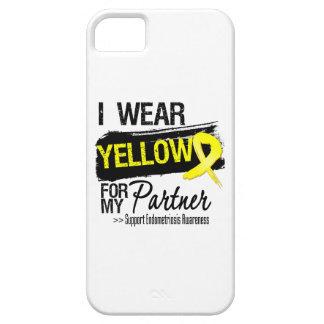 Endometriosis amarilla de la cinta del socio iPhone 5 carcasas