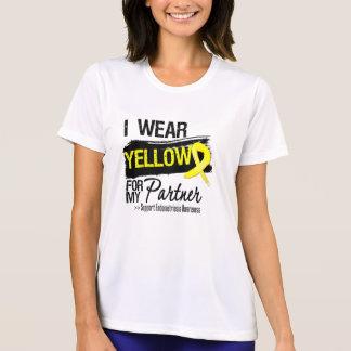 Endometriosis amarilla de la cinta del socio camisetas