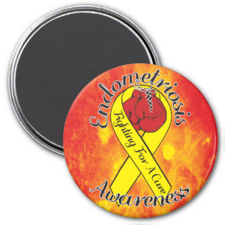 ENDOMETRIOSIS AWARENESS 2 Inch Round Magnet