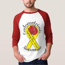 ENDOMETRIOSIS AWARENESS 3/4 Sleeve Raglan T-Shirt