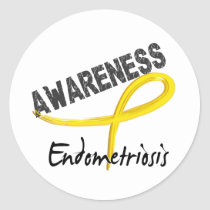 Endometriosis Awareness 3 Classic Round Sticker