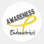 Endometriosis Awareness 3 Round Stickers
