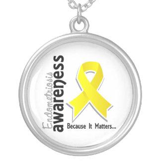 Endometriosis Awareness 5 Round Pendant Necklace