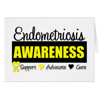 Endometriosis Awareness Badge Card