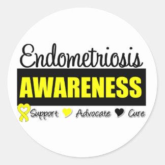 Endometriosis Awareness Badge Classic Round Sticker