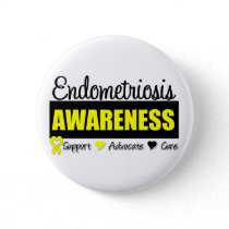 Endometriosis Awareness Badge Pinback Button