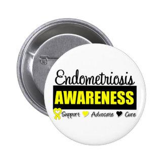 Endometriosis Awareness Badge Pinback Button