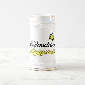 Endometriosis Awareness Butterfly Beer Stein