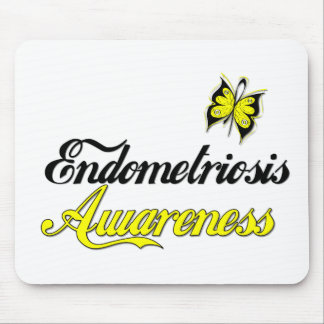 Endometriosis Awareness Butterfly Mouse Pad