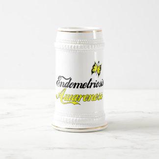 Endometriosis Awareness Butterfly 18 Oz Beer Stein