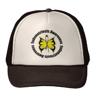 Endometriosis Awareness Butterfly Ribbon Trucker Hat