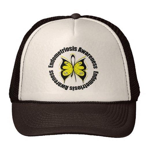 Endometriosis Awareness Butterfly Ribbon Mesh Hat