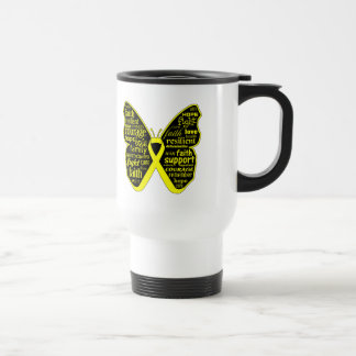 Endometriosis Awareness Butterfly Ribbon 15 Oz Stainless Steel Travel Mug
