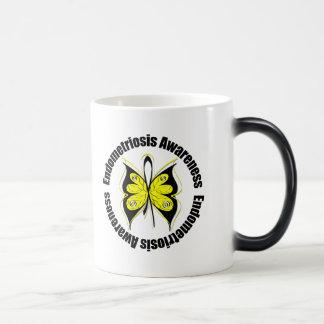 Endometriosis Awareness Butterfly Ribbon Coffee Mugs