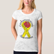 ENDOMETRIOSIS AWARENESS Canvas Burnout T-Shirt
