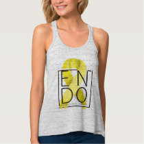 Endometriosis Awareness Flowy Racerback Tank Top