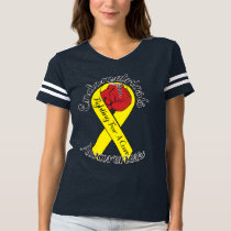 ENDOMETRIOSIS AWARENESS Football T-Shirt