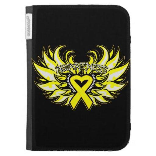Endometriosis Awareness Heart Wings Kindle Covers