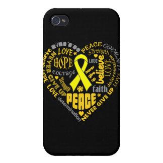 Endometriosis Awareness Heart Words iPhone 4/4S Cases