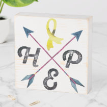 Endometriosis Awareness HOPE Wooden Box Sign