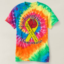 ENDOMETRIOSIS AWARENESS Men's Spiral Tie-Dye Shirt