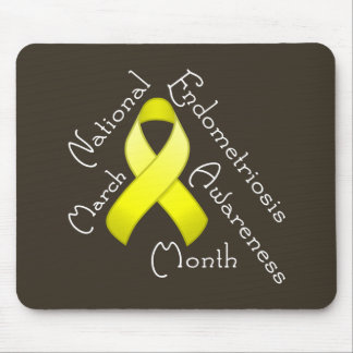 Endometriosis Awareness Month Dark Mousepad
