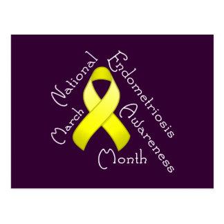 Endometriosis Awareness Month Dark Postcard