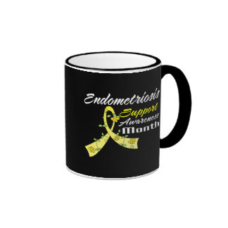 Endometriosis Awareness Month Flower Ribbon Mugs