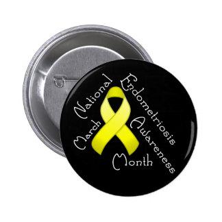Endometriosis Awareness Month Round Dark Button