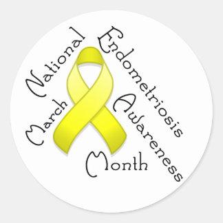 Endometriosis Awareness Month Round Light Sticker