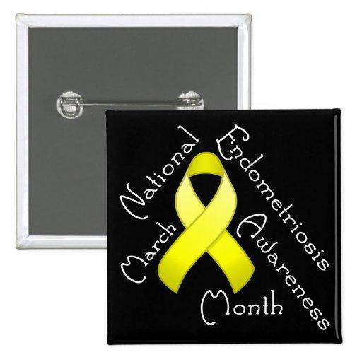 Endometriosis Awareness Month Square Dark Button
