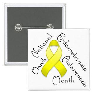 Endometriosis Awareness Month Square Light Button