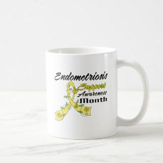 Endometriosis Awareness Month Yellow Flower Ribbon Mug
