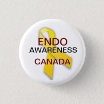 Endometriosis Awareness Pinback Button